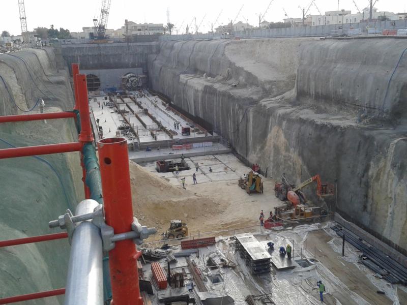 TBM launching at Al Sudan Station (west headwall)